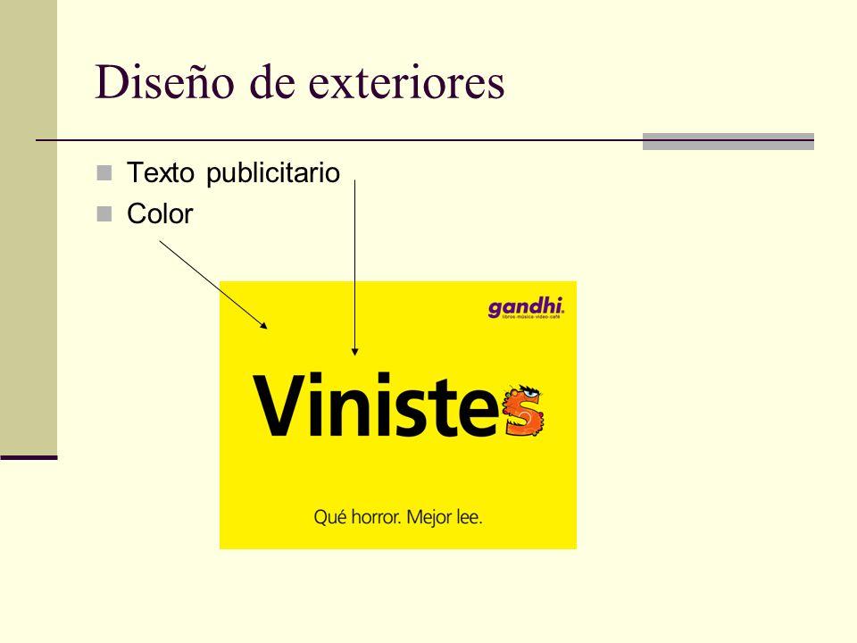 Diseño de exteriores Texto publicitario Color