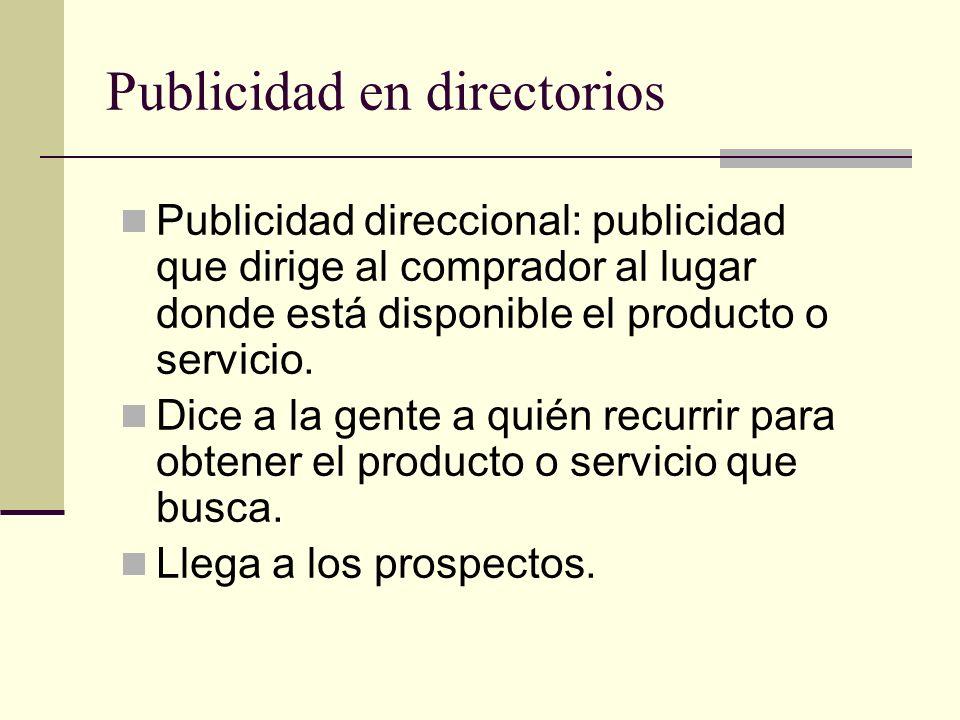 Publicidad en directorios