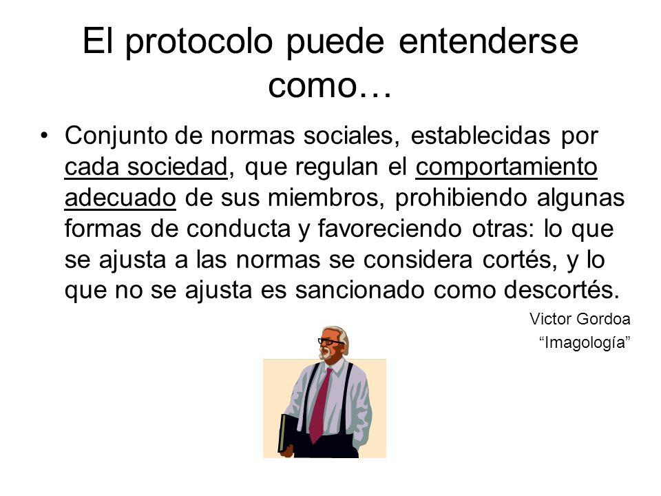 El protocolo puede entenderse como…