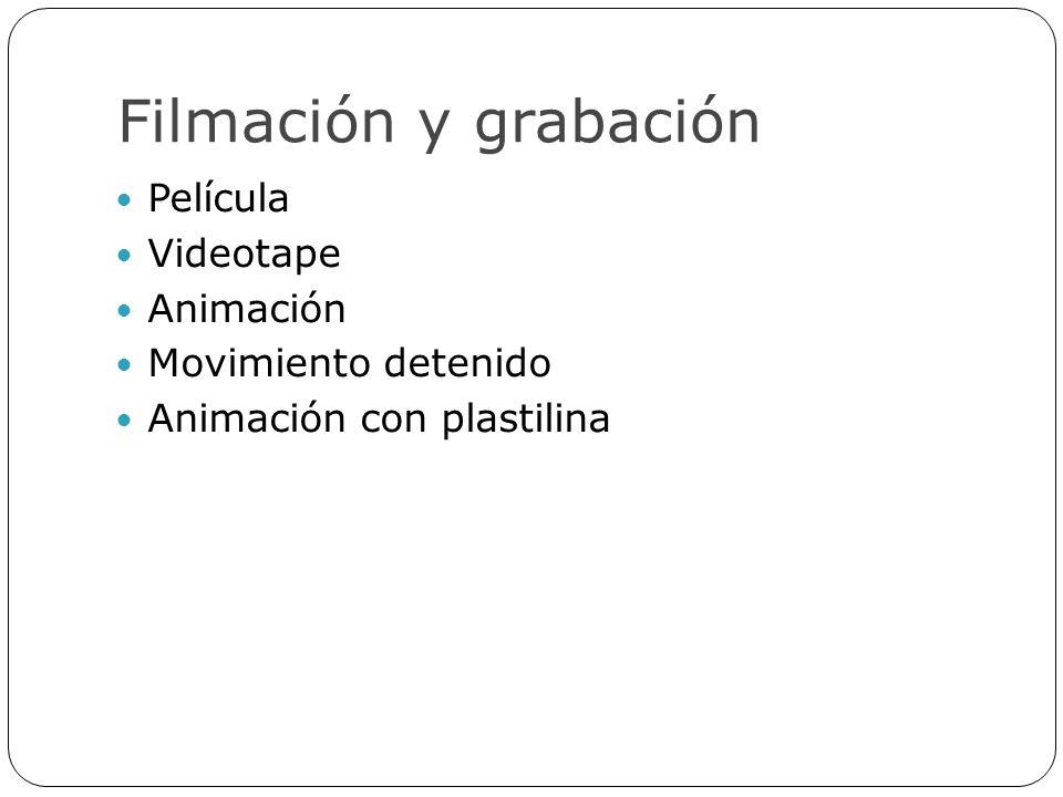 Filmación y grabación Película Videotape Animación Movimiento detenido