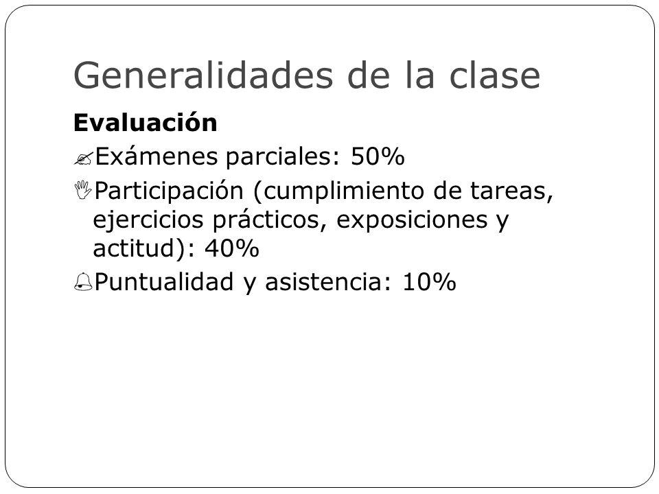 Generalidades de la clase