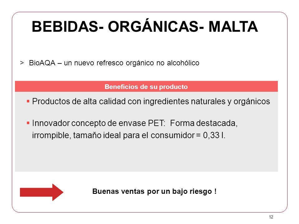 BEBIDAS- ORGÁNICAS- MALTA