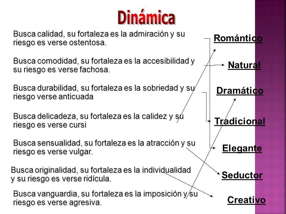 Dinámica Romántico Natural Dramático Tradicional Elegante Seductor