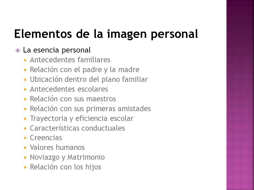 Elementos de la imagen personal