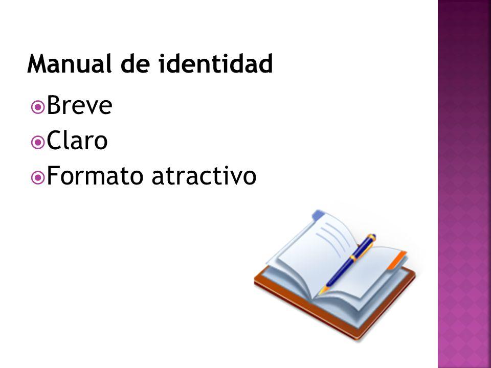 Manual de identidad Breve Claro Formato atractivo