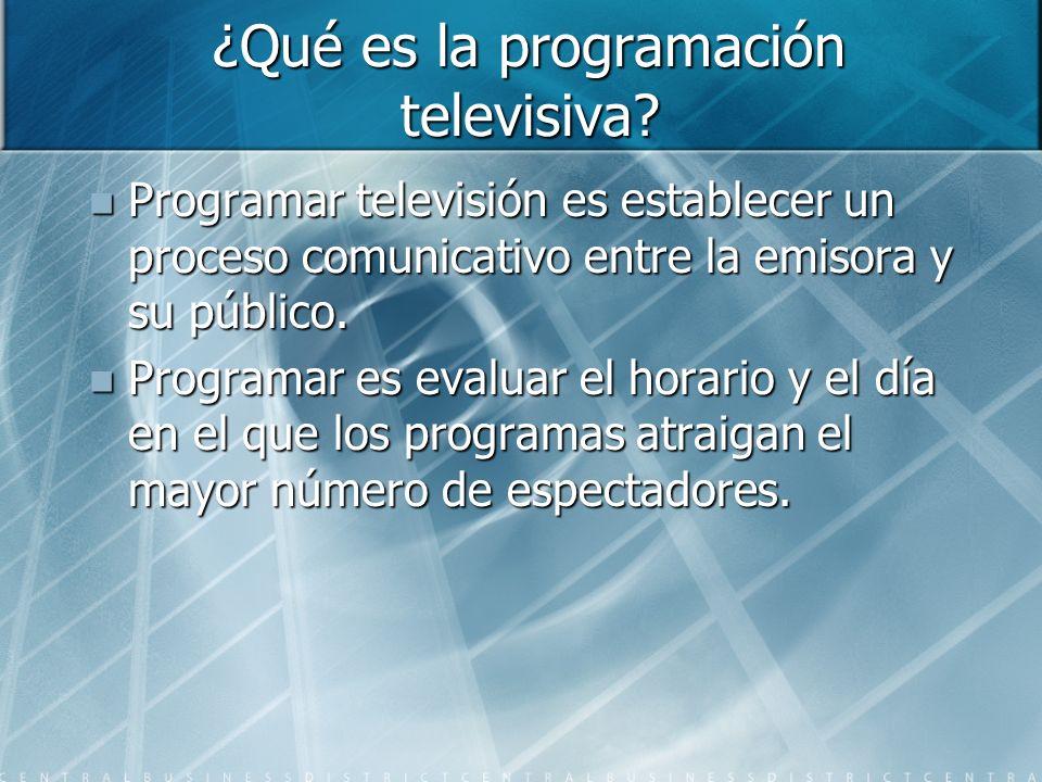 ¿Qué es la programación televisiva