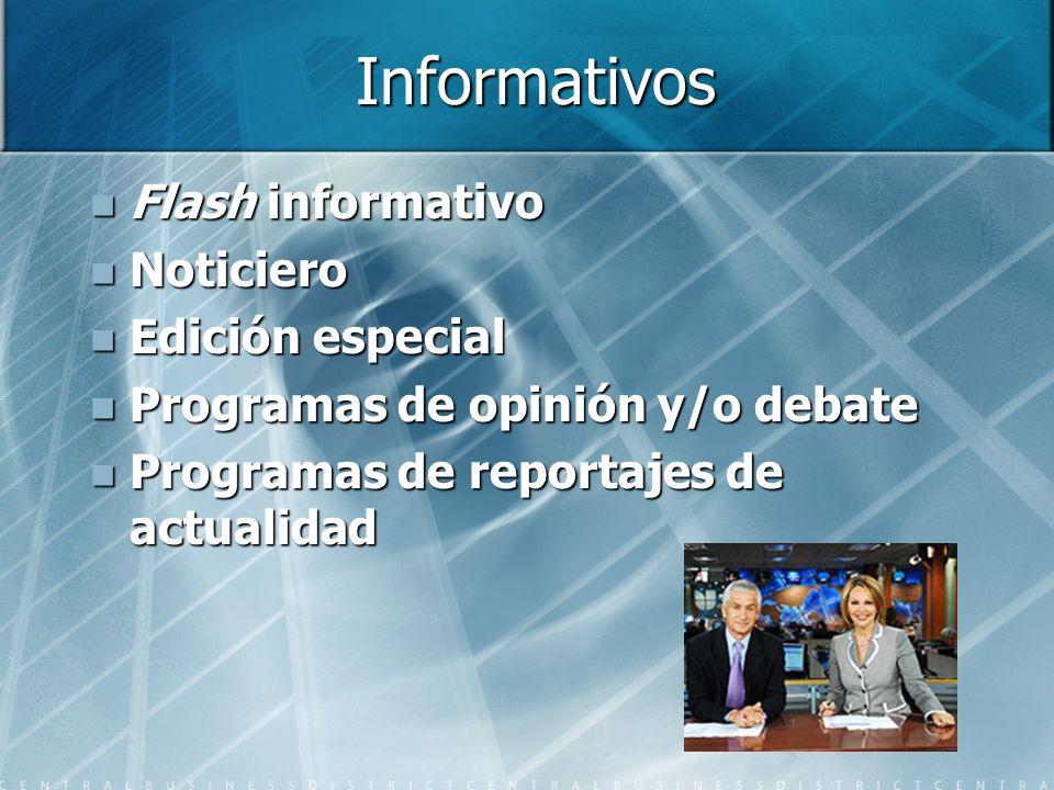 Informativos Flash informativo Noticiero Edición especial