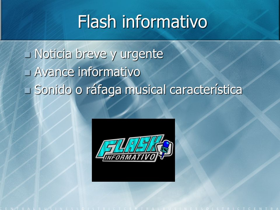 Flash informativo Noticia breve y urgente Avance informativo
