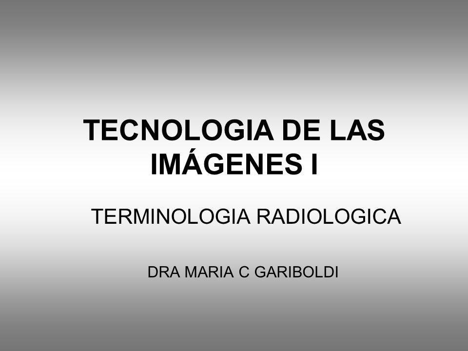TECNOLOGIA DE LAS IMÁGENES I