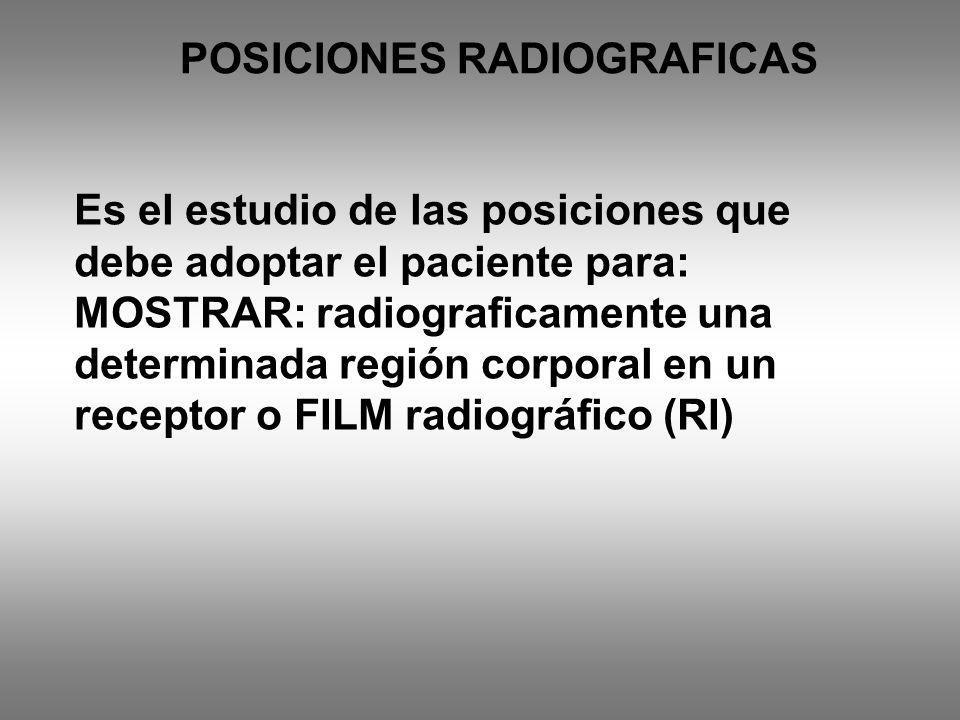 POSICIONES RADIOGRAFICAS