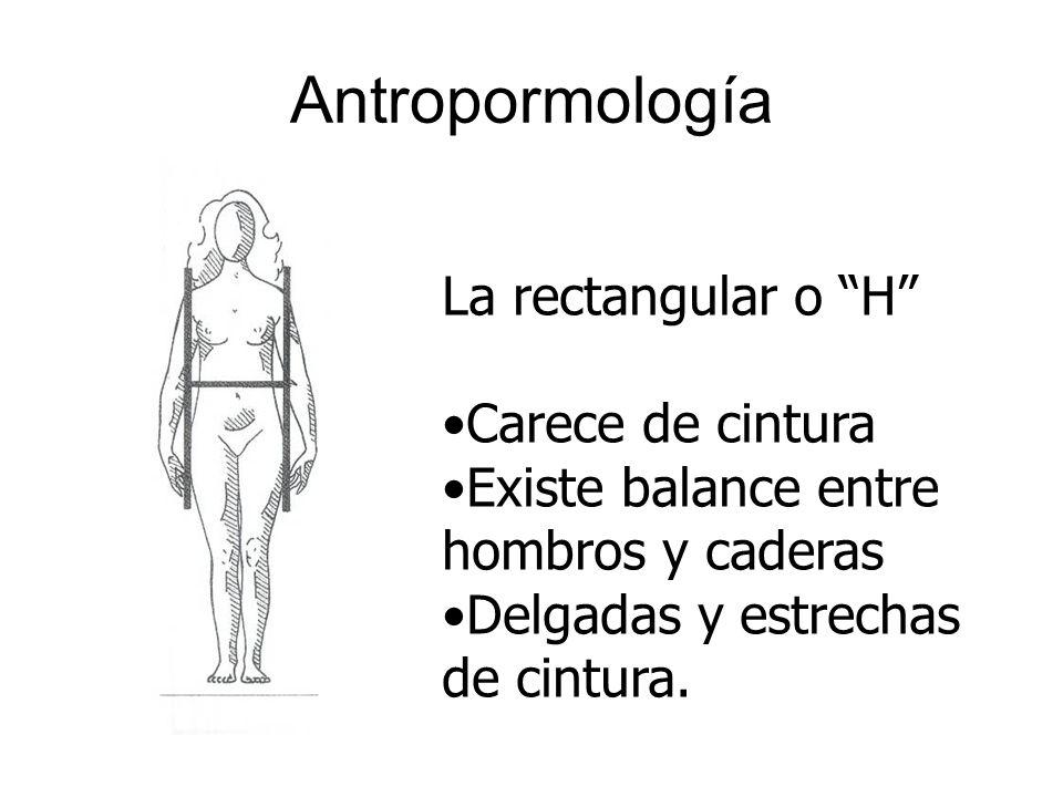 Antropormología La rectangular o H Carece de cintura