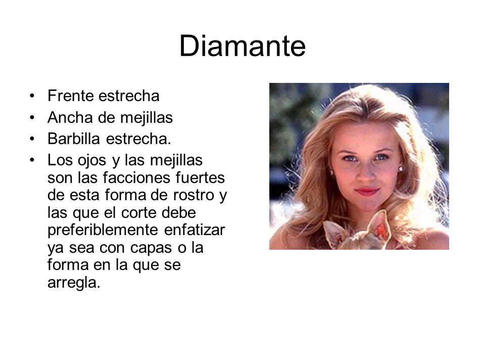 Diamante Frente estrecha Ancha de mejillas Barbilla estrecha.