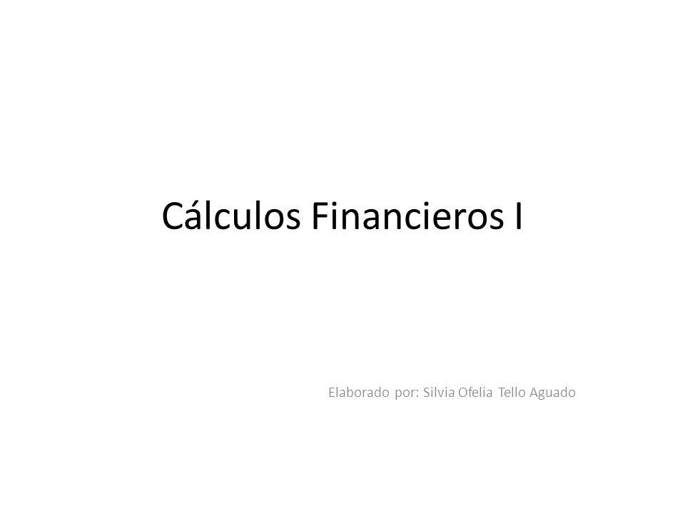Cálculos Financieros I