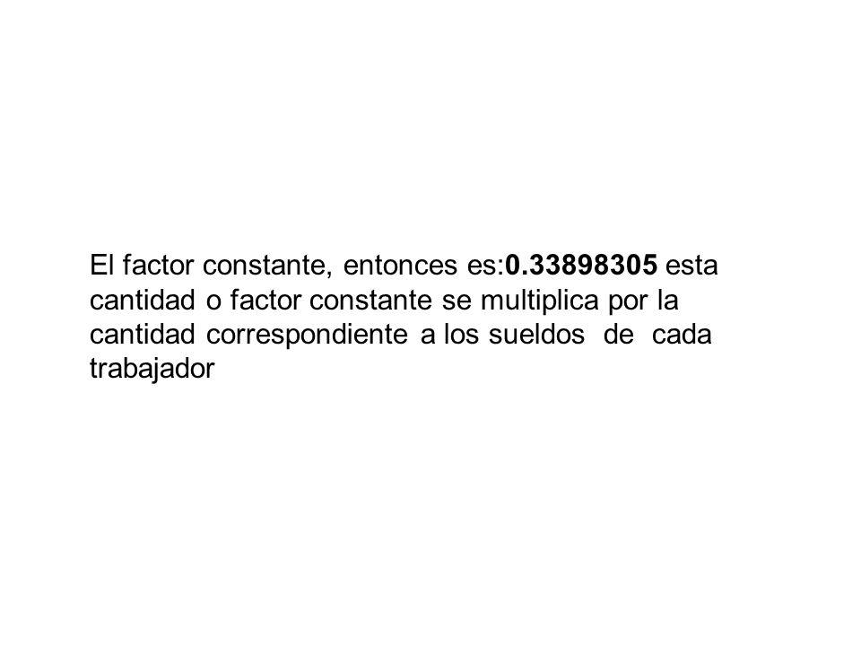 El factor constante, entonces es:0
