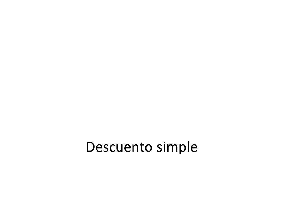 Descuento simple