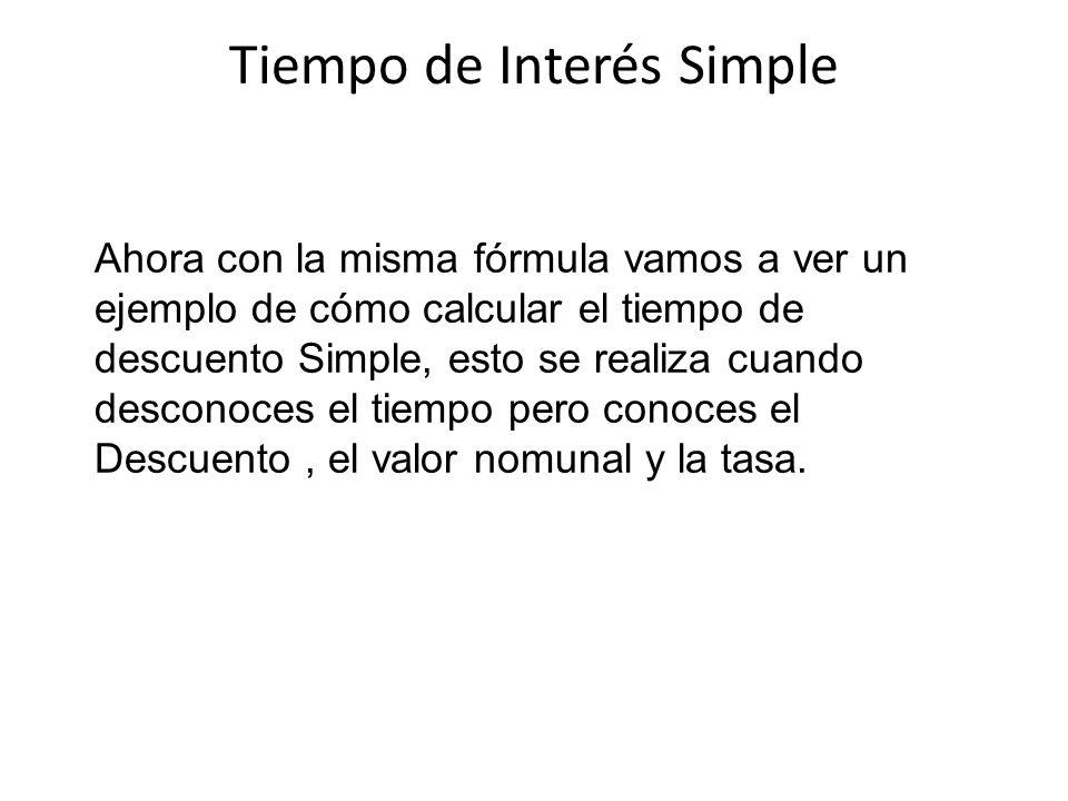 Tiempo de Interés Simple