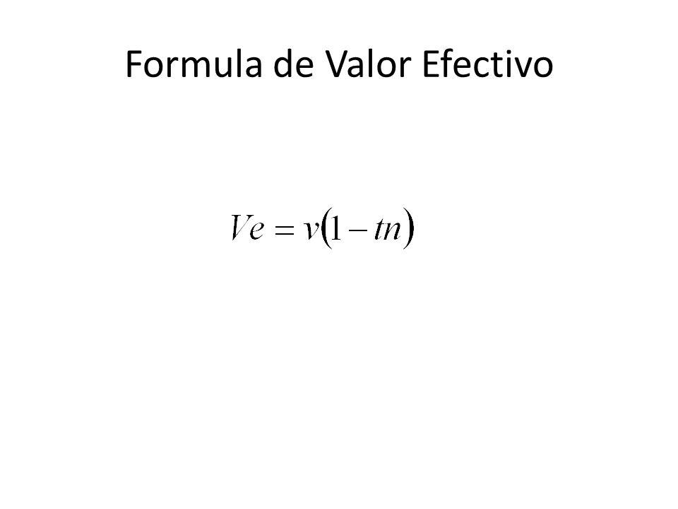 Formula de Valor Efectivo