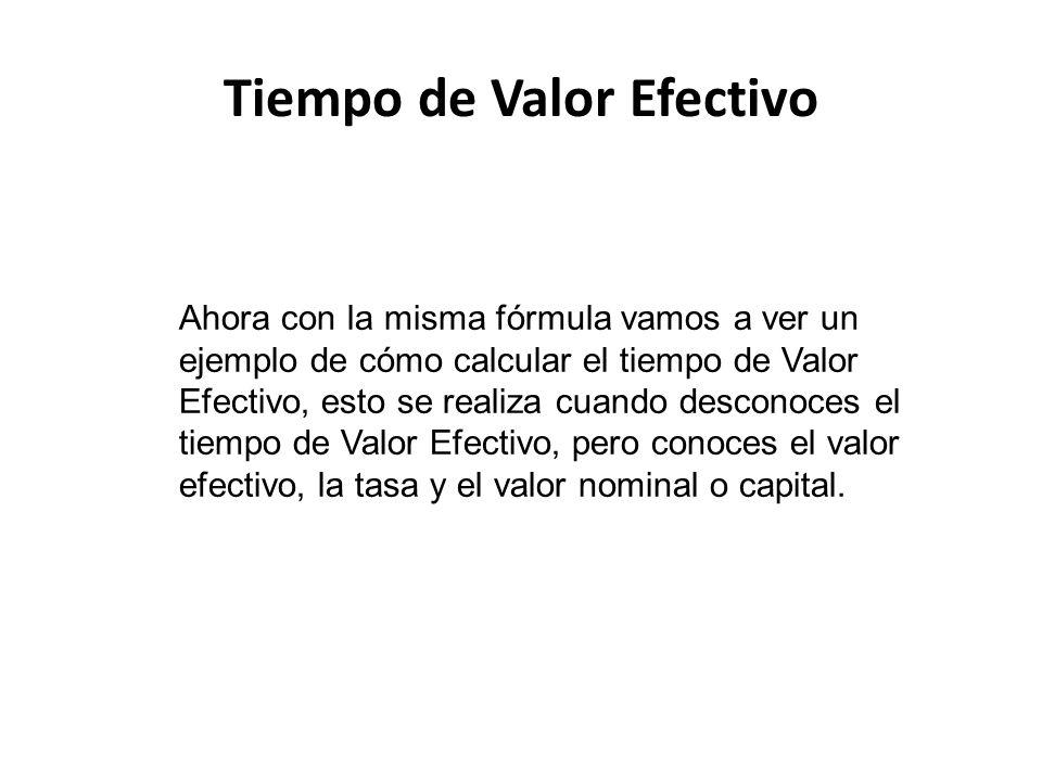 Tiempo de Valor Efectivo