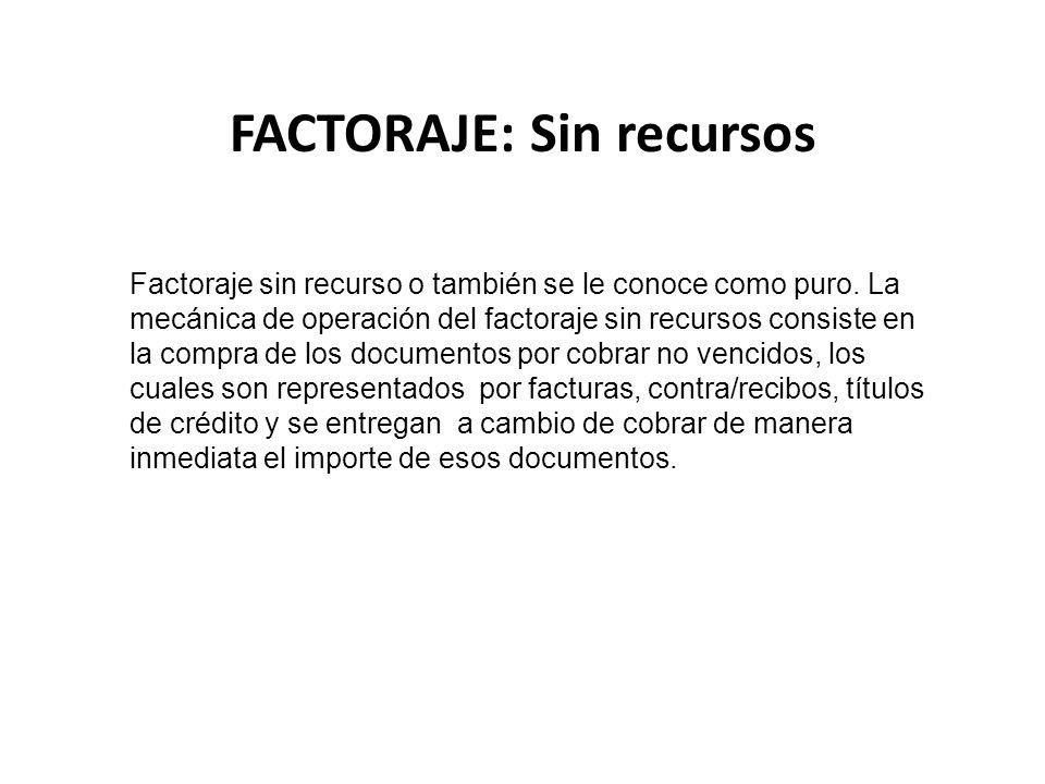 FACTORAJE: Sin recursos