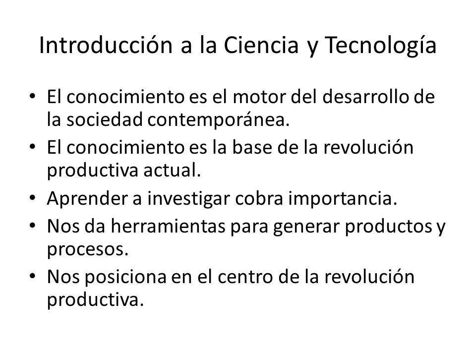 Introducción a la Ciencia y Tecnología