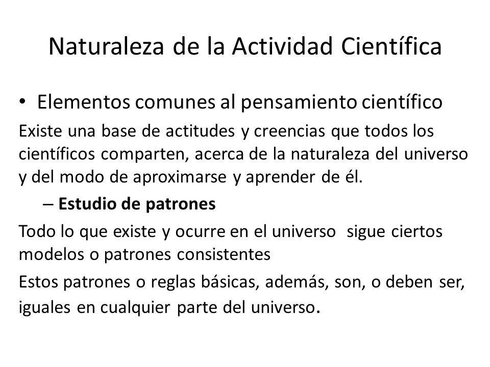 Naturaleza de la Actividad Científica