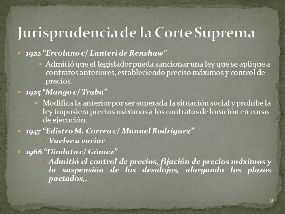 Jurisprudencia de la Corte Suprema