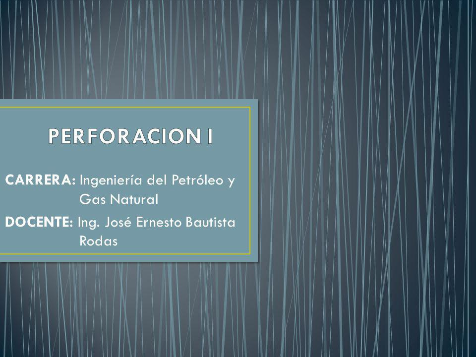 PERFORACION I CARRERA: Ingeniería del Petróleo y Gas Natural
