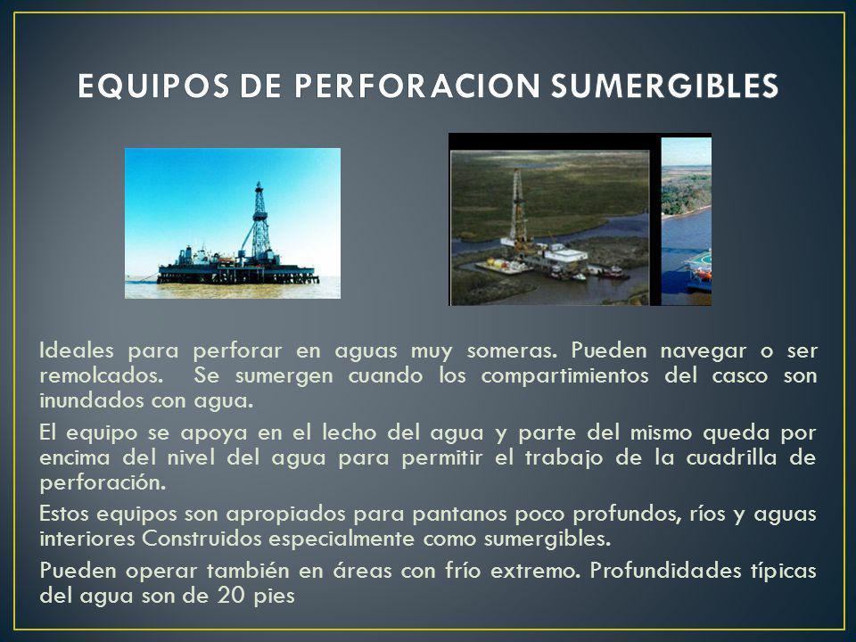 EQUIPOS DE PERFORACION SUMERGIBLES
