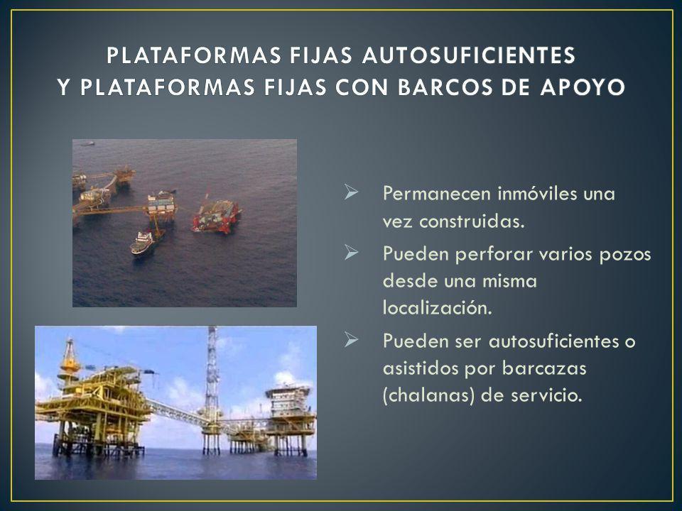PLATAFORMAS FIJAS AUTOSUFICIENTES Y PLATAFORMAS FIJAS CON BARCOS DE APOYO