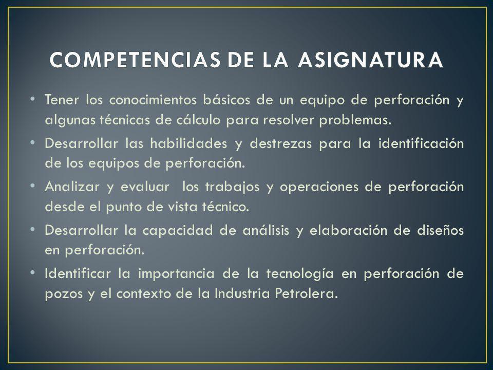 COMPETENCIAS DE LA ASIGNATURA