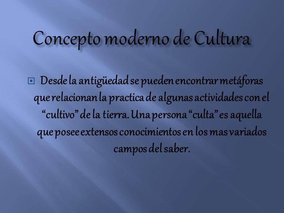 Concepto moderno de Cultura