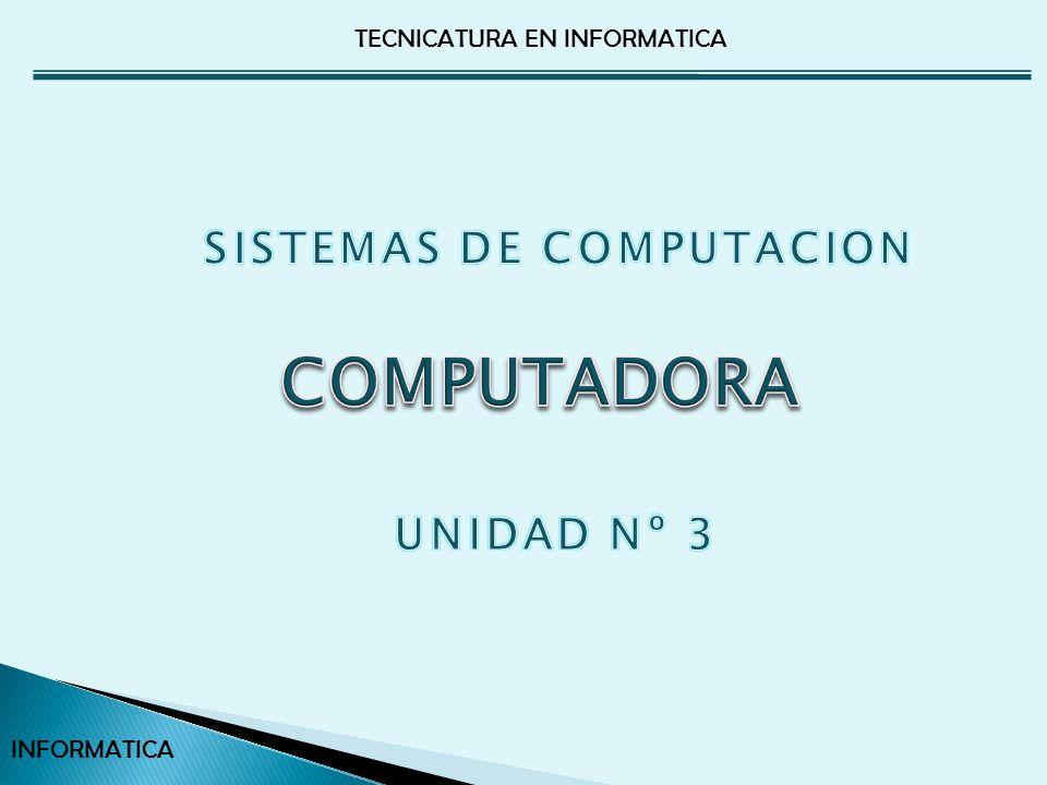 SISTEMAS DE COMPUTACION