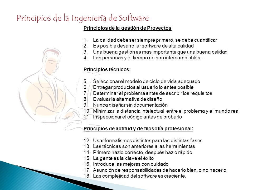 Principios de la Ingeniería de Software