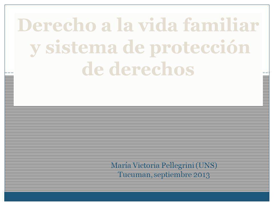 Derecho a la vida familiar y sistema de protección de derechos