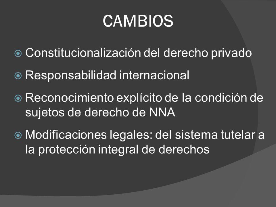 CAMBIOS Constitucionalización del derecho privado