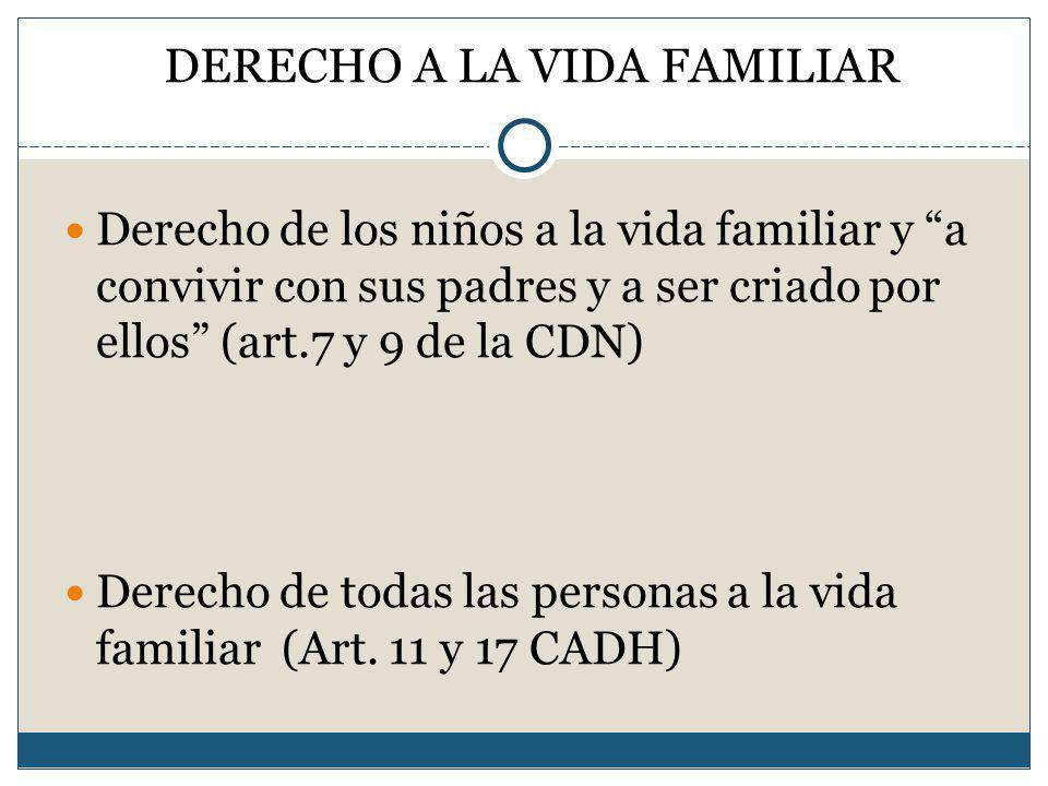 DERECHO A LA VIDA FAMILIAR