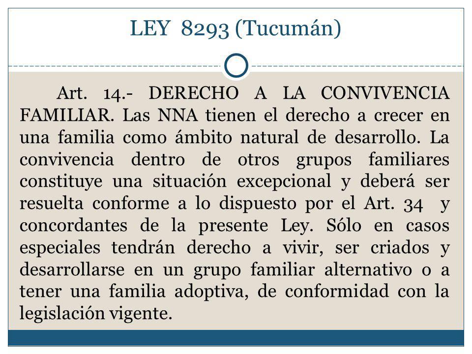 LEY 8293 (Tucumán)
