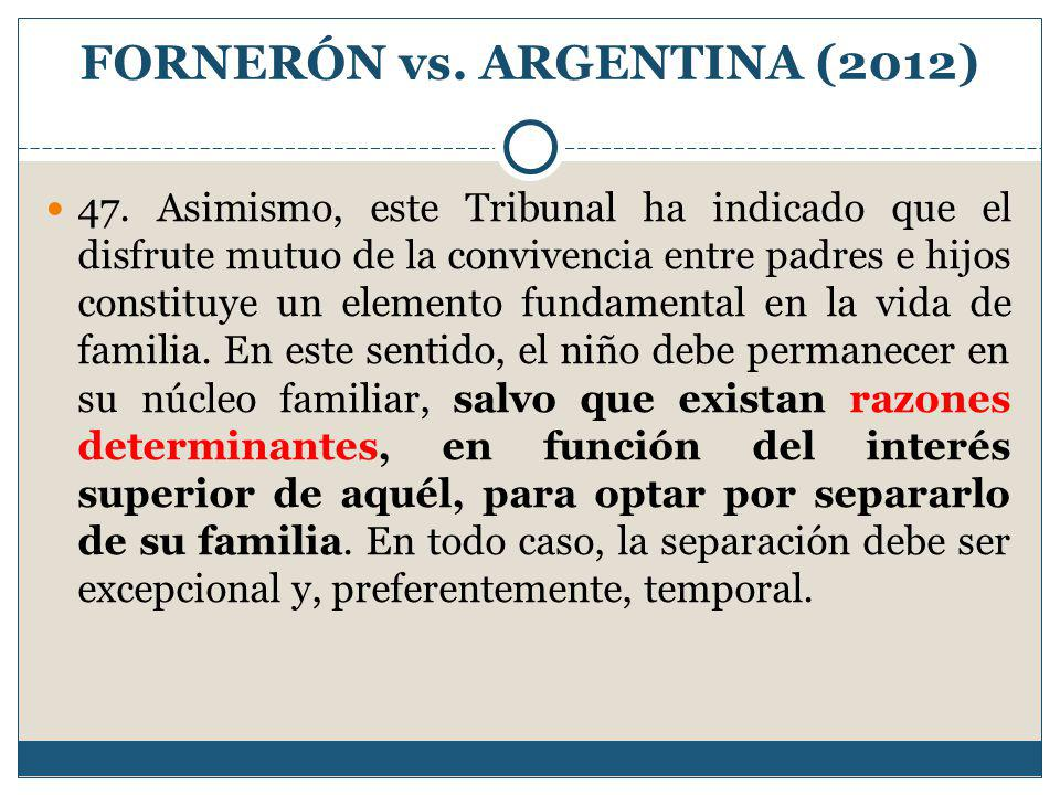 FORNERÓN vs. ARGENTINA (2012)
