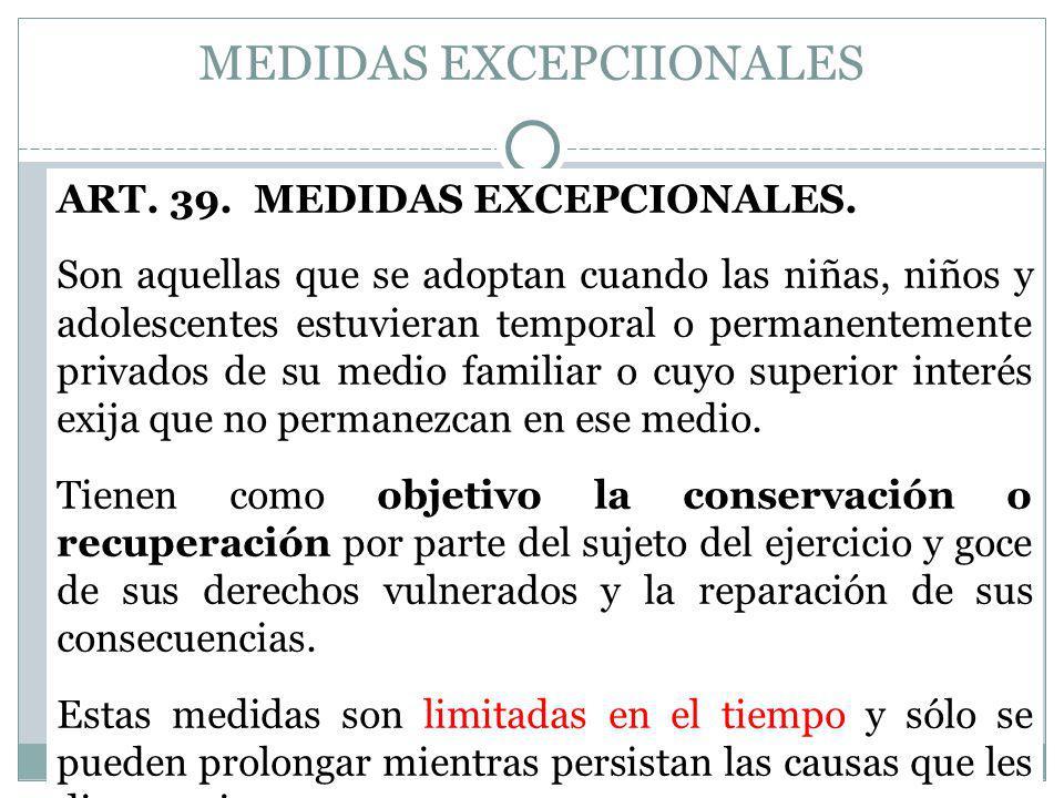 MEDIDAS EXCEPCIIONALES