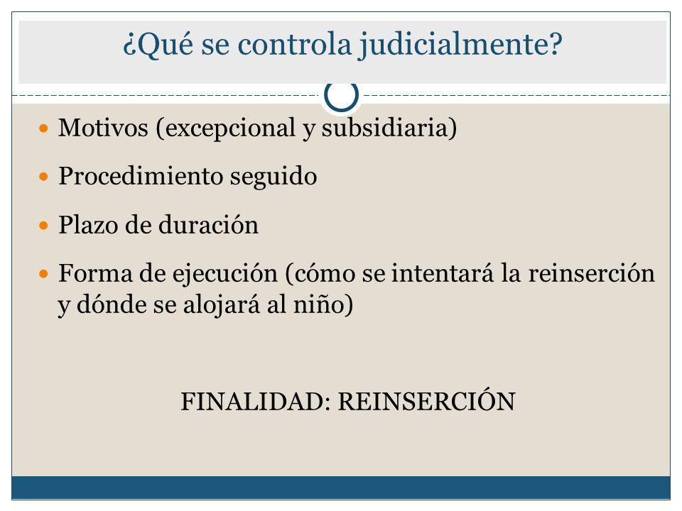 ¿Qué se controla judicialmente