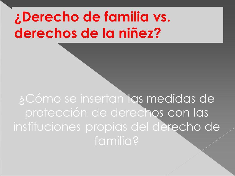 ¿Derecho de familia vs. derechos de la niñez