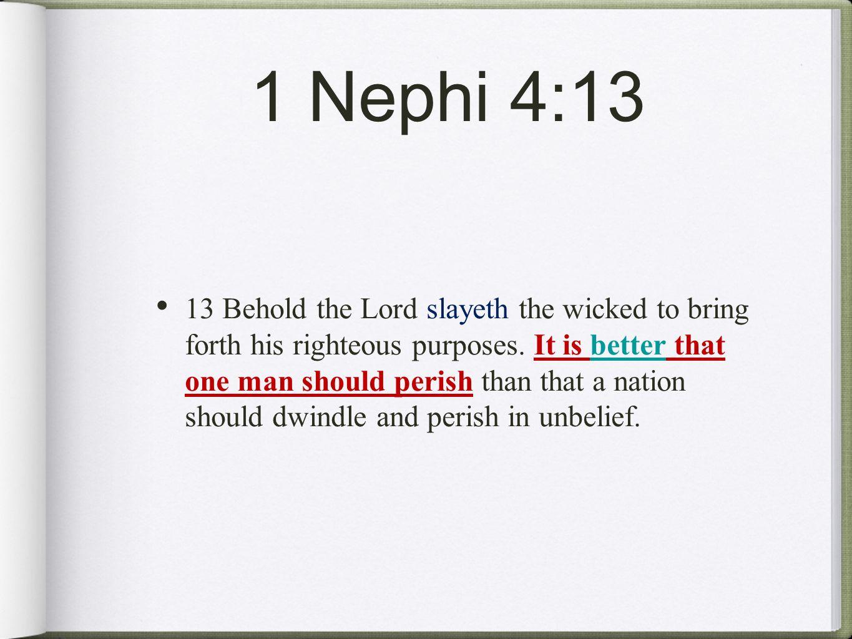 1 Nephi 4:13