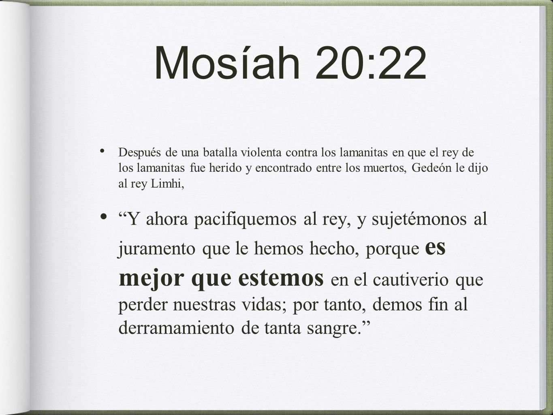 Mosíah 20:22