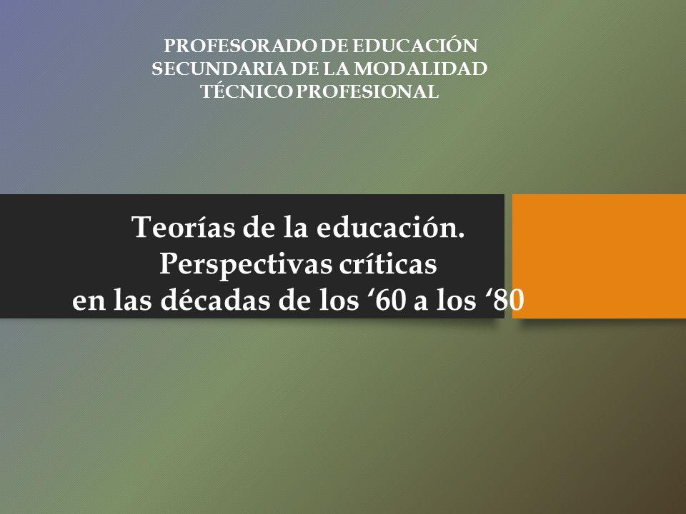 Teorías de la educación. Perspectivas críticas