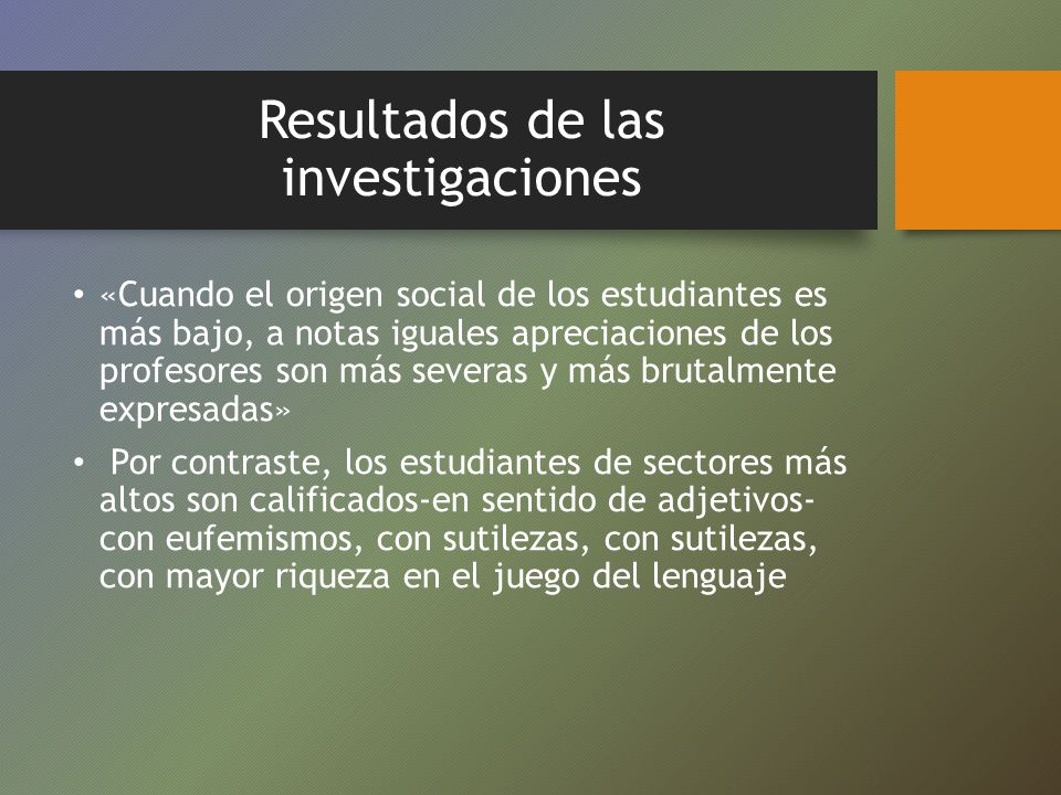 Resultados de las investigaciones