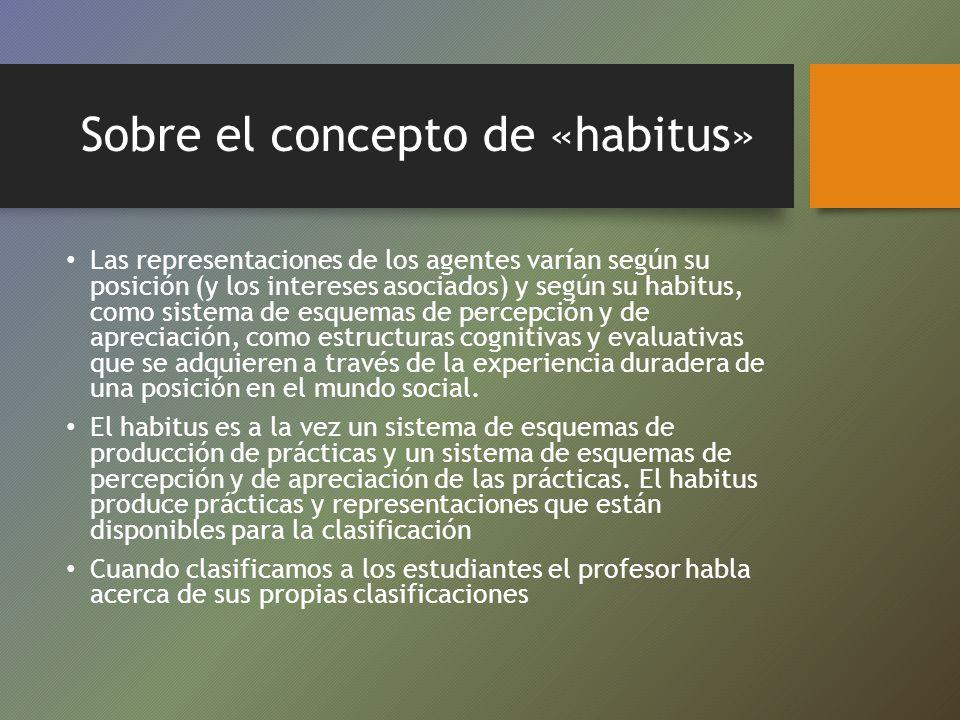 Sobre el concepto de «habitus»