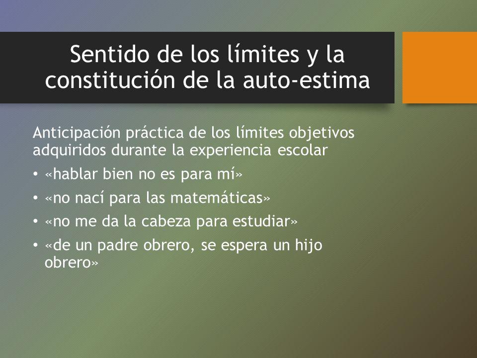 Sentido de los límites y la constitución de la auto-estima