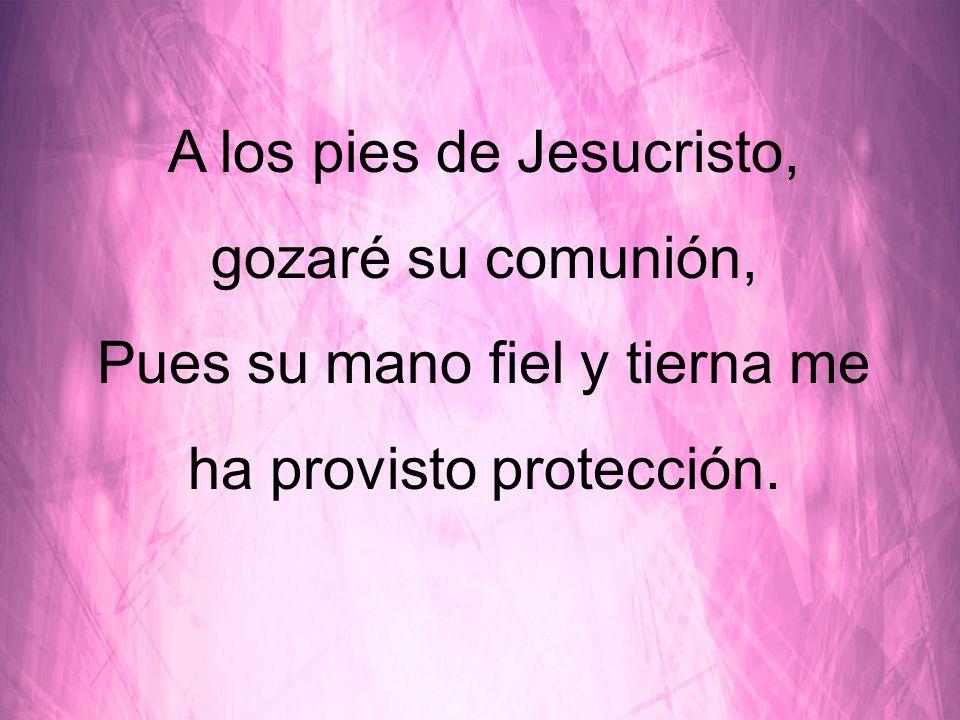 A los pies de Jesucristo, gozaré su comunión,