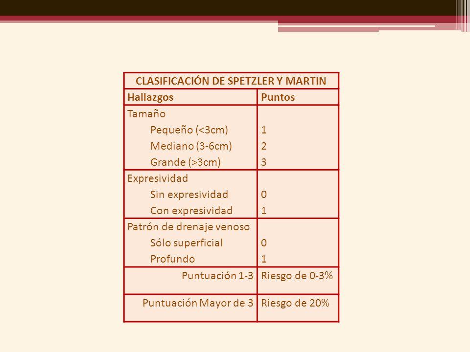 CLASIFICACIÓN DE SPETZLER Y MARTIN
