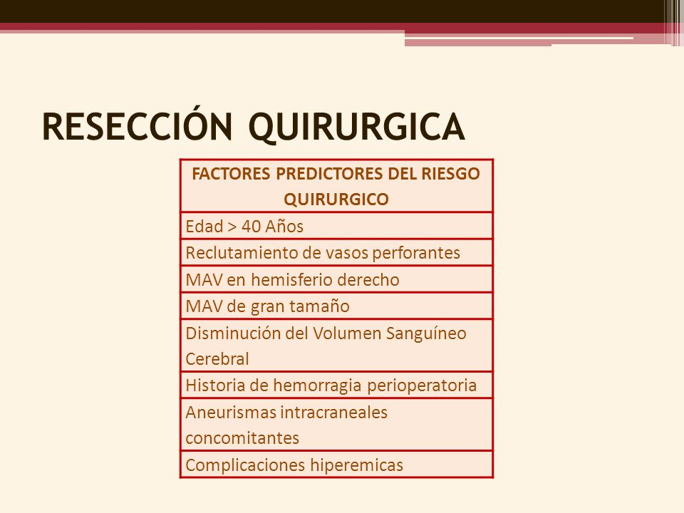 FACTORES PREDICTORES DEL RIESGO QUIRURGICO
